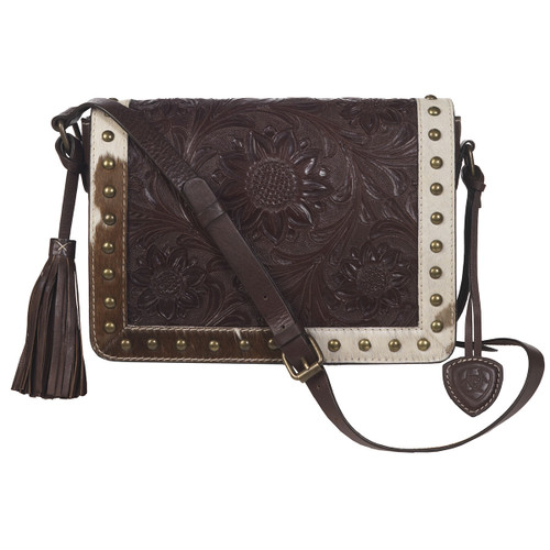 ARIAT CROSS BODY LEATHER COWHIDE - LADIES PURSES   - A770000902