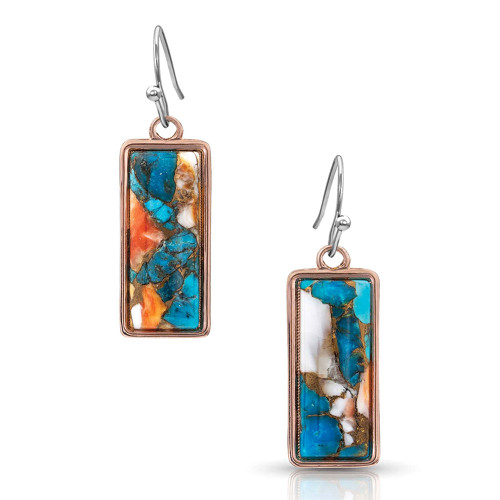 MONTANA SILVERSMITHS PICTURE PERFECT TURQUOISE - ACCESSORIES JEWELRY EARRINGS - ER4277RG