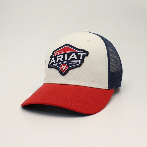 ARIAT RED WHITE & BLUE LOGO PATCH - HATS CAP   - A300012205