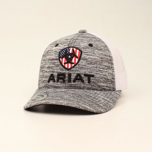 ARIAT YOUTH USA FLAG GREY HEATHER - HATS CAP   - A300008706