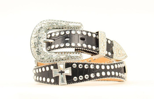 BLAZZIN ROXX BLACK RHINESTONE CROSS - ACCESSORIES BELT LADIES - N3514601