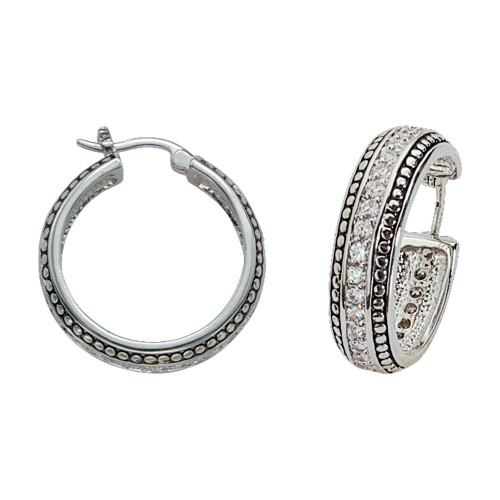 MONTANA SILVERSMITHS WESTERN CRYSTALS SILVER STUD - ACCESSORIES JEWELRY EARRINGS - ER1233