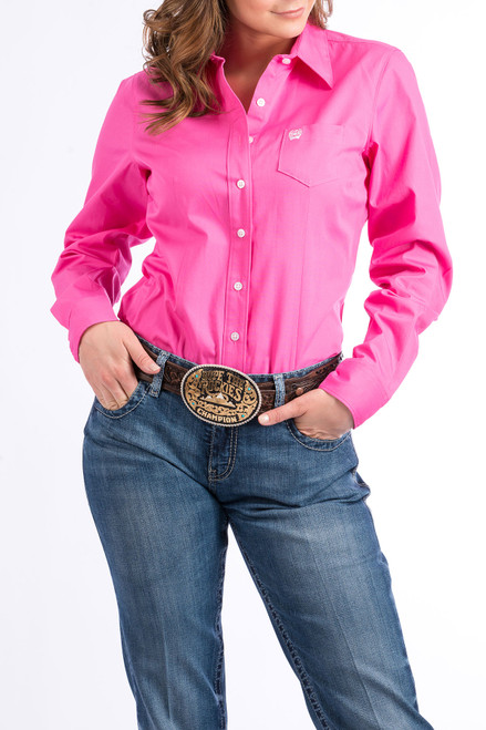 CINCH WOMEN'S L/S SOLID BUTTON DOWN - LADIES SHIRT   - MSW9164033