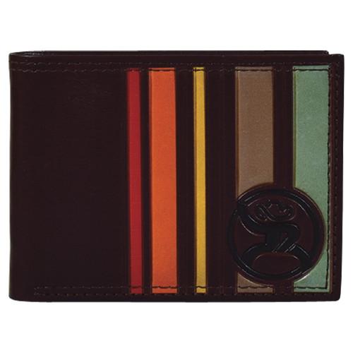 HOOEY BIFOLD BROWN SUNSET STRIPES - ACCESSORIES WALLET   - 2001161W3