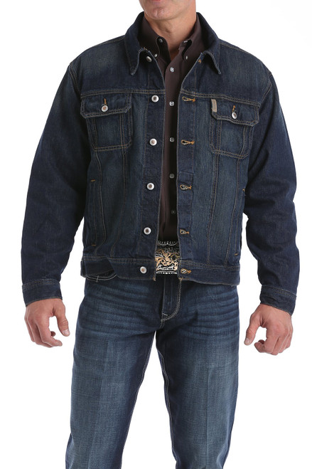 CINCH DENIM JACKET DARK STONEWASH - MENS JACKET   - MWJ1122014