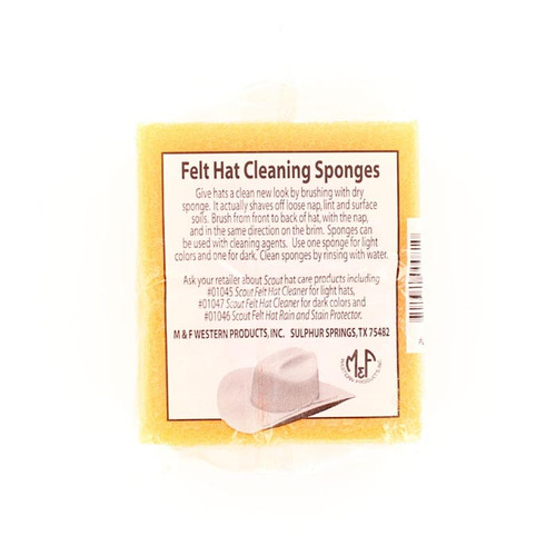 M&F FELT HAT CLEANING SPONGE - HATS ADD-ONS   - 01032