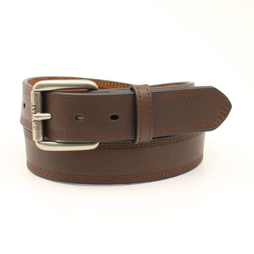 ARIAT CLASSIC SMOOTH BROWN LEATHER - ACCESSORIES BELT MEN - A1034802