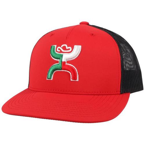 HOOEY BOQUILLAS RED BLACK MEXICO - HATS CAP   - 2118T-RDBK