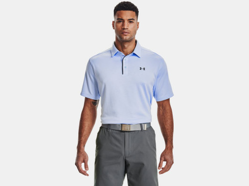 UNDER ARMOUR TECH POLO ISOTOPE BLUE - MENS POLO   - 1290140-438