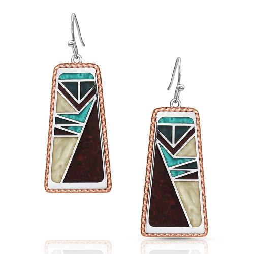 MONTANA SILVERSMITHS TURQUOISE VERTICAL TABLET - ACCESSORIES JEWELRY EARRINGS - ER4816