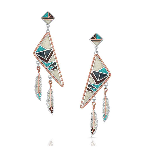 MONTANA SILVERSMITHS CEREMONY DREAMCATCHER TURQUOIS - ACCESSORIES JEWELRY EARRINGS - ER4822