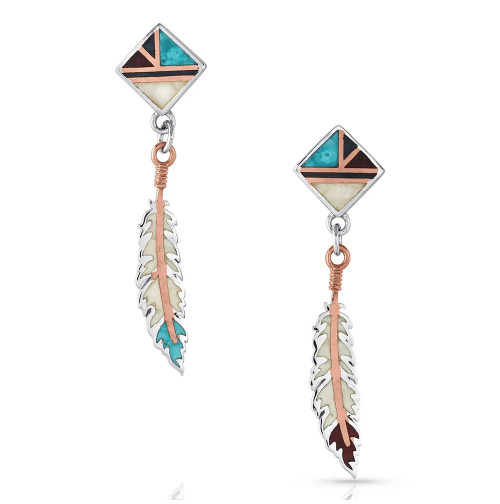 MONTANA SILVERSMITHS AMERICAN LEGENDS FEATHER - ACCESSORIES JEWELRY EARRINGS - ER4823