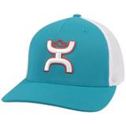 HOOEY COACH TEAL WHITE ORANGE - HATS CAP   - 2112TLWH