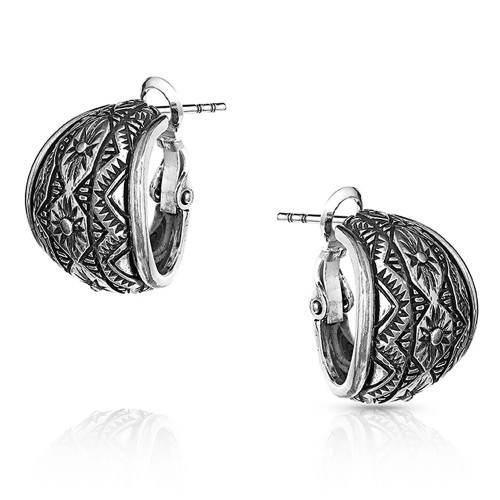 MONTANA SILVERSMITHS WESTERN LINES CURVED SILVER - ACCESSORIES JEWELRY EARRINGS - ER4810