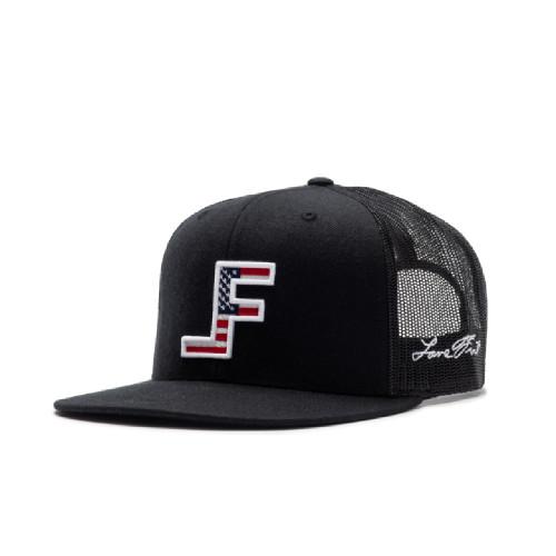 LANE FROST BLACK USA FLAG LF - HATS CAP   - PATRIOT