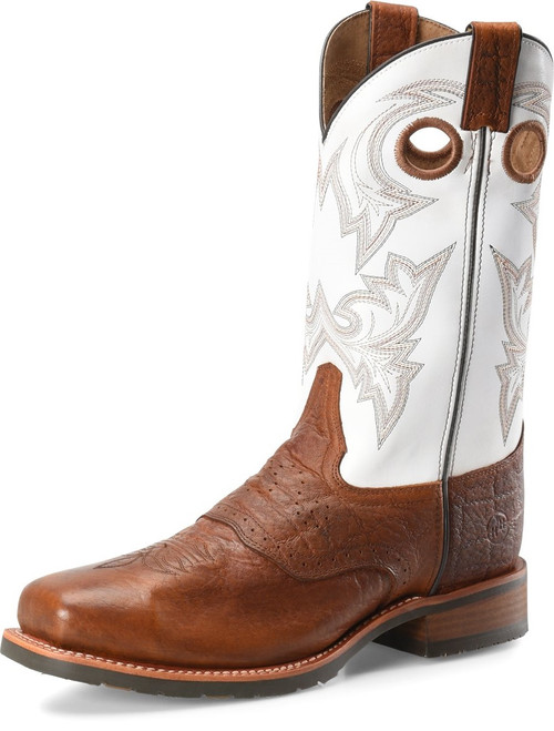 DOUBLE H COGNAC EXOTIC PRINT MARTY - BOOT MENS WORK - DH7003