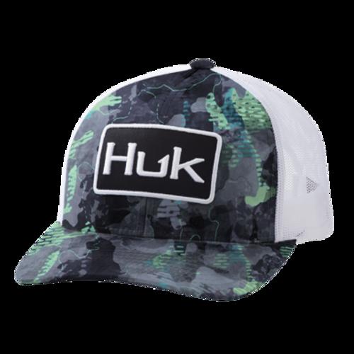 HUK CAMO REFRACTION WHITE MESH - HATS CAP   - H3000256-031