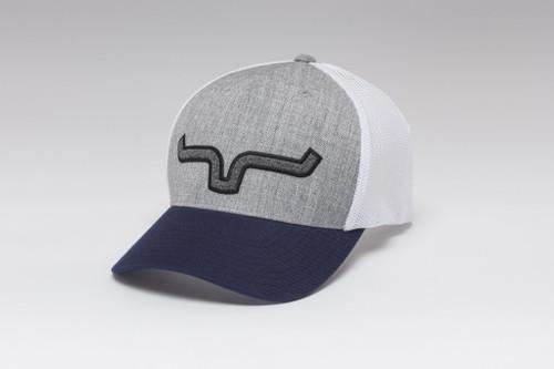 KIMES RANCH HEATHER GREY MESH RED CAP - HATS CAP   - SOFT SERVE 110 TRUCKER