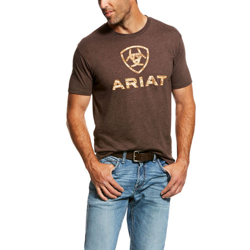 ARIAT LIBERTY USA DIGITAL CAMO BROWN - MENS TEE   - 10027515