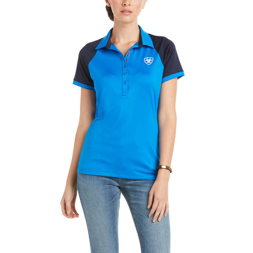 ARIAT TEAM 3.0 SS POLO IMPERIAL BLUE - LADIES POLO   - 10034999
