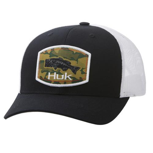 HUK CAMO BASS TRUCKER BLACK - HATS CAP   - H3000262-001