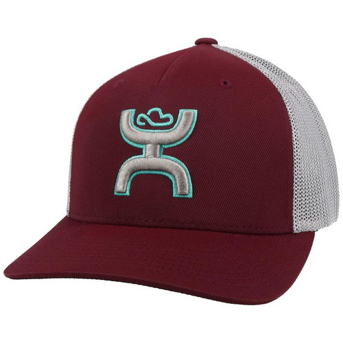 HOOEY COACH  MAROON GRAY MESH - HATS CAP   - 2112MAGY