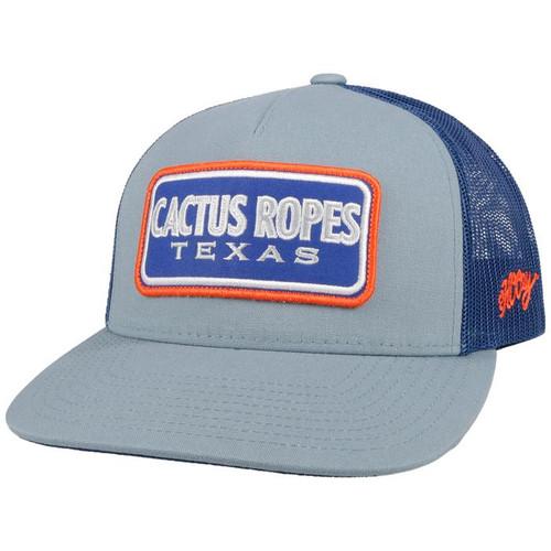 HOOEY CACTUS ROPES GRAY BLUE MESH - HATS CAP   - CR071