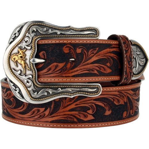 TONY LAMA WESTERLY RIDE TOOLED LEATHER - ACCESSORIES BELT MEN - C41514
