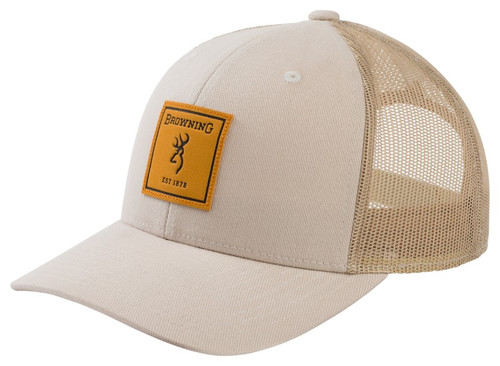 BROWNING RUGGED CREAM SQUARE PATCH - HATS CAP   - 308607671
