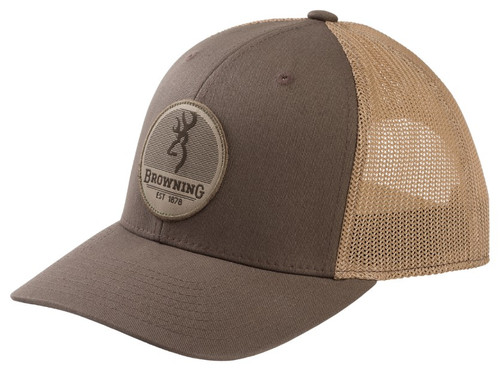 BROWNING CIRCUIT PEWTER ROUND PATCH - HATS CAP   - 308287861