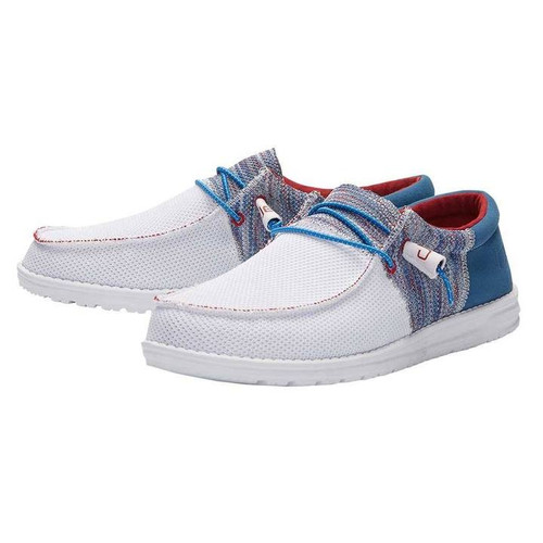 HEY DUDE WALLY SOX TRI-TONE BLUE RED - FOOTWEAR MEN'S   - 110352682