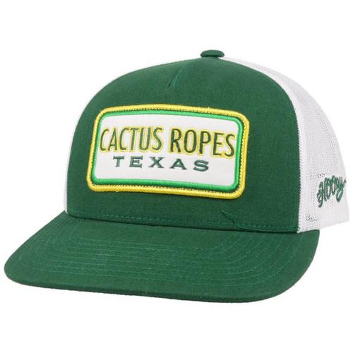 HOOEY CACTUS ROPES GREEN  WHITE - HATS CAP   - CR066