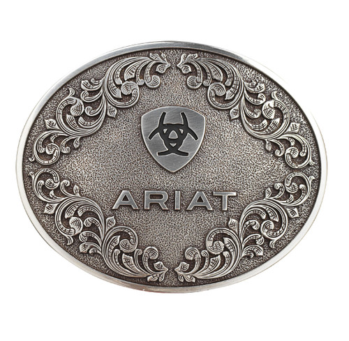 ARIAT OVAL SMOOTH EDGE SCROLL - ACC BUCKLE   - A37012