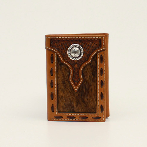 ARIAT TRIFOLD BASKET WEAVE CALF HAIR - ACCESSORIES WALLET   - A3546502