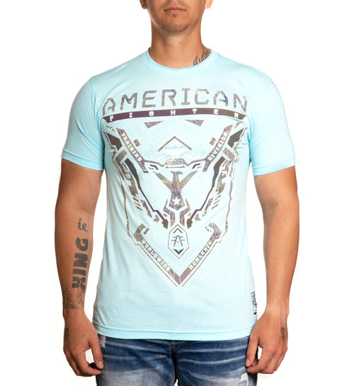 AMERICAN FIGHTER LINDLEY ARCTIC BLUE - MENS TEE   - FM11520