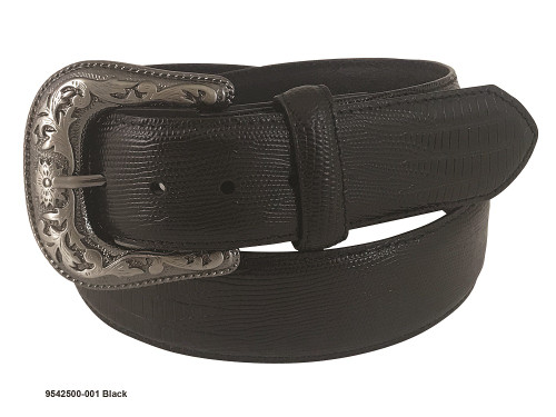 GEMDANDY BLACK LIZZARD PRINT LEATHER - ACCESSORIES BELT MEN - 9542500-001