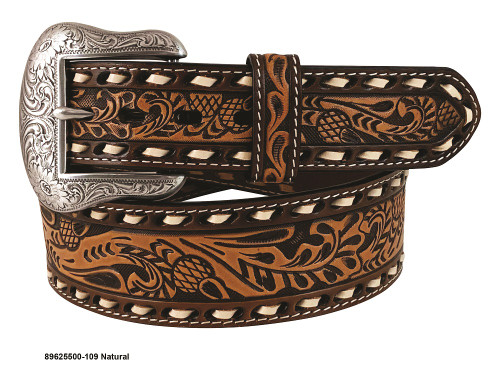 ROPER WESTERN LEATHER BUCK LACED - ACCESSORIES BELT MEN - 8625500-109