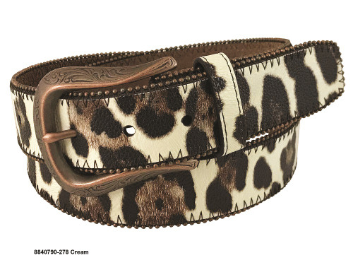ROPER LEOPARD PRINT LEATHER 1 1/2 - ACCESSORIES BELT MEN - 8840790-210