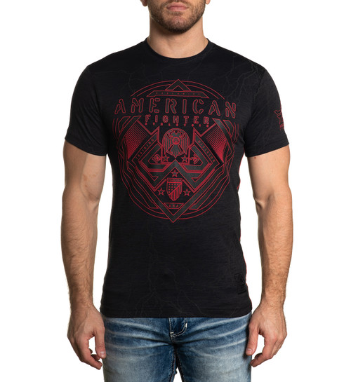 AMERICAN FIGHTER MADERA SS PITCH BLACK - MENS TEE   - FM12346