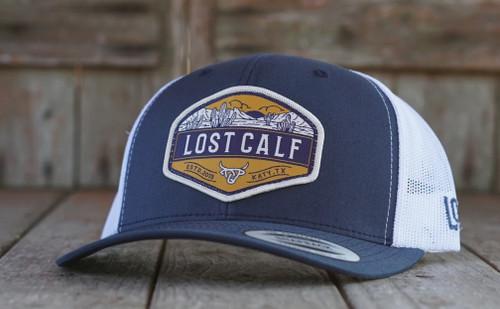 LOST CALF BLUE WHITE YELLOW PATCH - HATS CAP   - DESSERT
