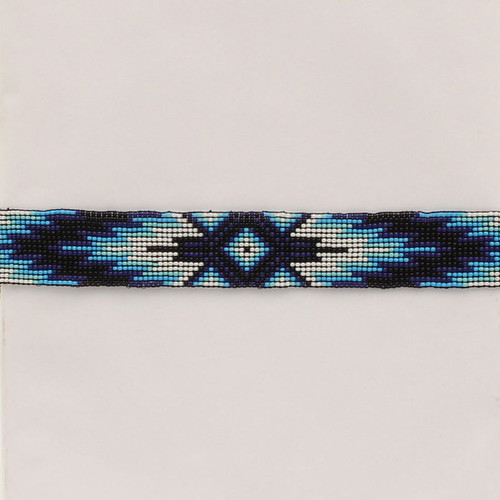 TWISTER HATBAND BEADED STRETCH BLUE - HATS ADD-ONS   - 0274227
