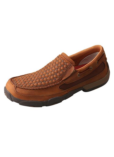 TWISTED X MEN'S SLIP-ON DRIVING MOC - FOOTWEAR MEN'S   - MDMS017