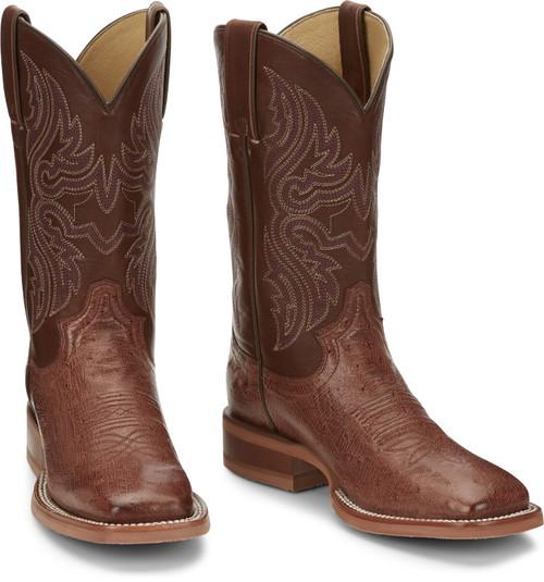 JUSTIN  TRINITY SMOOTH OSTRICH - BOOT LADIES   - JE703