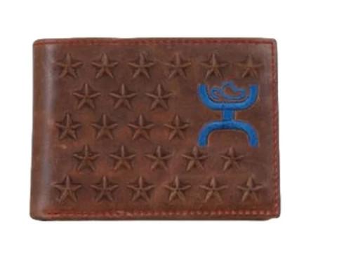 HOOEY BIFOLD STARS BROWN LEATHER - ACCESSORIES WALLET   - 1678161W1