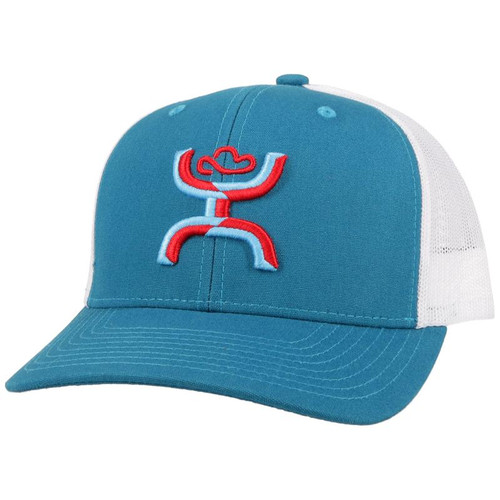 HOOEY STERLING TURQUOISE WHITE RED - HATS CAP   - 2106T-TQWH