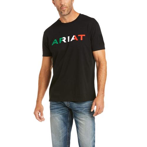 ARIAT VIVA MEXICO LOGO BLACK TEE - MENS TEE   - 10036630