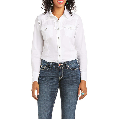 ARIAT REAL INFAMOUS WHITE - LADIES SHIRT   - 10035256