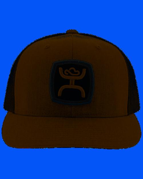 HOOEY BROWN BLACK CAP - HATS CAP   - 2024T-BRBK