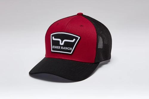 KIMES RANCH HARDBALL TRUCKER RED - HATS CAP   - HARDBALL TRUCKER RED