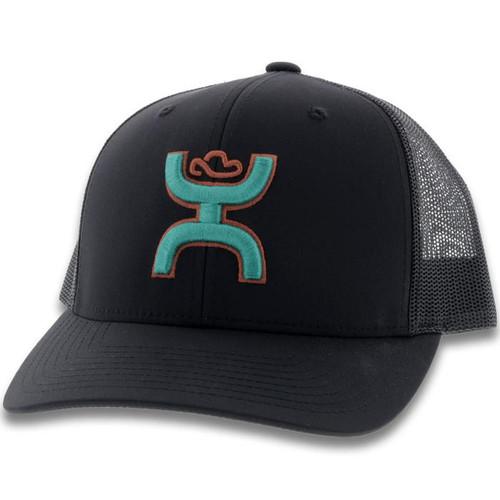 """HOOEY """"STERLING"""" BLACK CAP - HATS CAP   - 2006T-BKGY"""